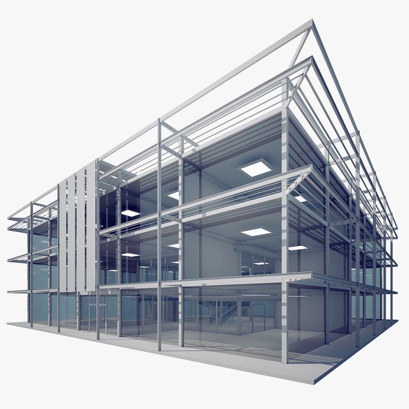 Architectural 3D models ModernGlassBuilding jpg