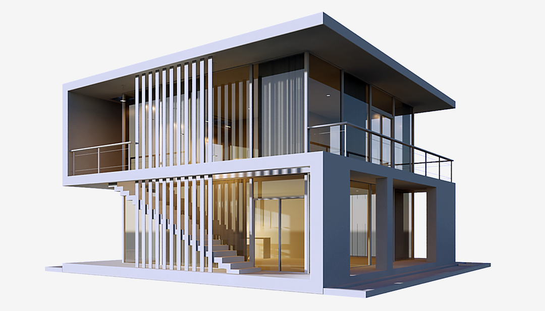 Architectural 3D models frame View02 png