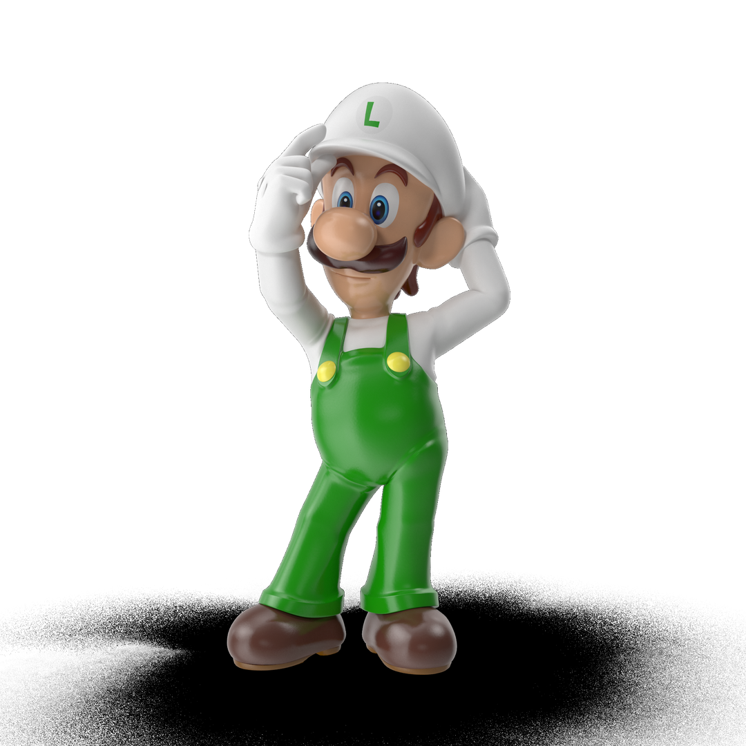 Cartoon and videogame characters Luigi I01 2k png