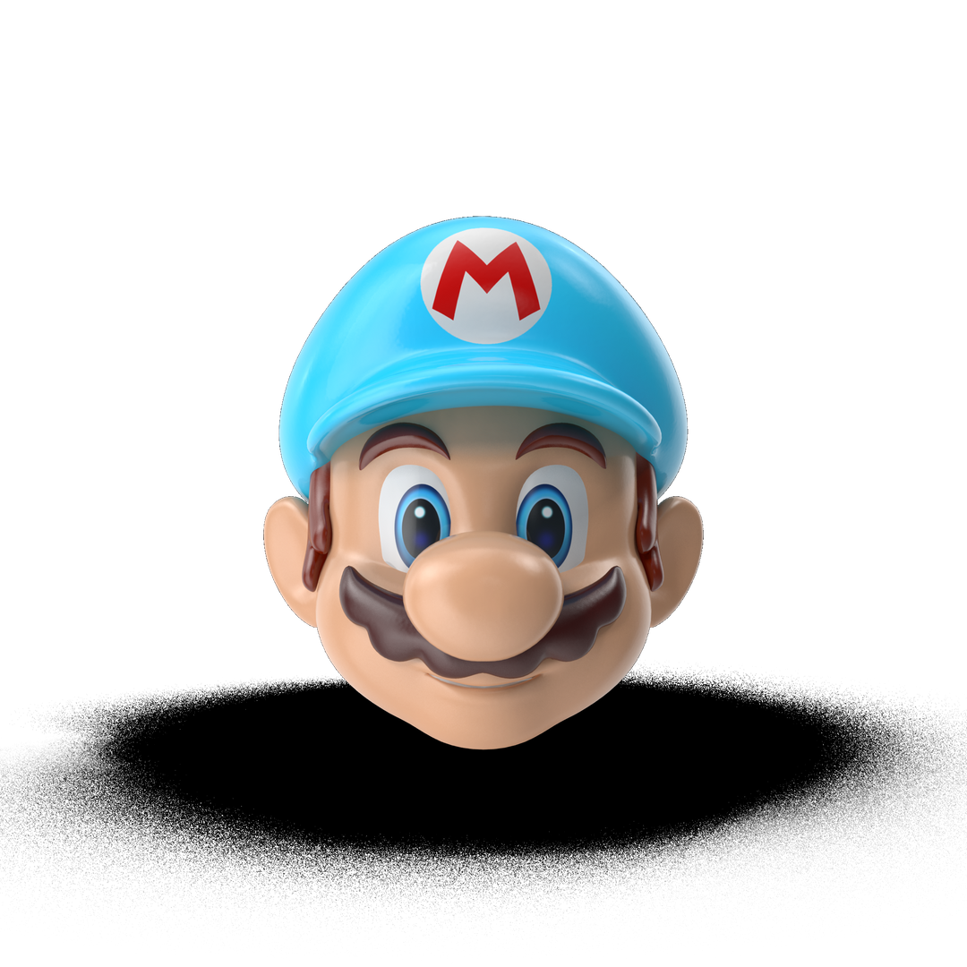 Cartoon and videogame characters Marios20Head20Ice20Costume I01 2k png