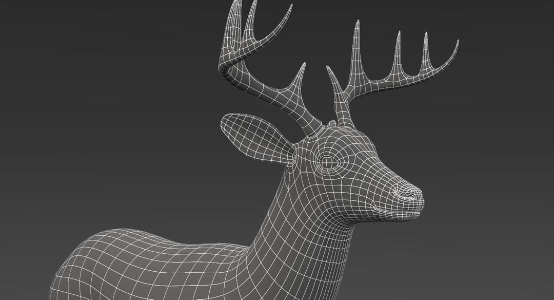 White Tailed Deer 2 (Fur) Rigged Deer 5 png