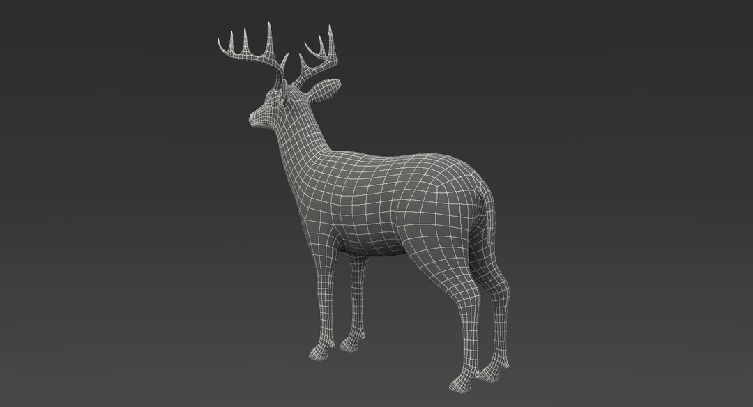 White Tailed Deer 2 (Fur) Rigged Deer 6 png