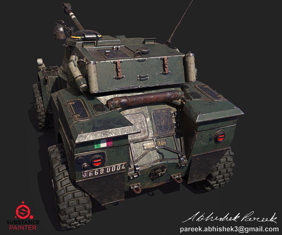 Hard surface/Weapon/vehicle artist Panhard AML 90 03 jpg