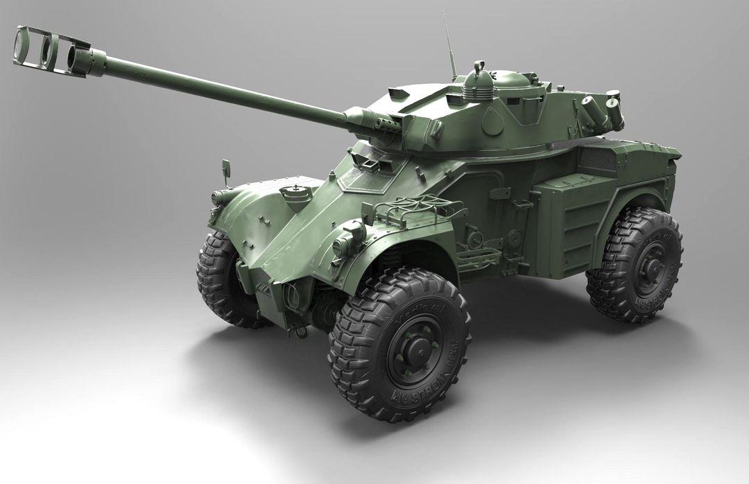 Hard surface/Weapon/vehicle artist Panhard AML 90 Modeling 01 jpg