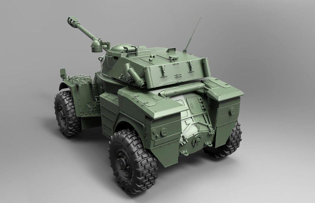Hard surface/Weapon/vehicle artist Panhard AML 90 Modeling 02 jpg