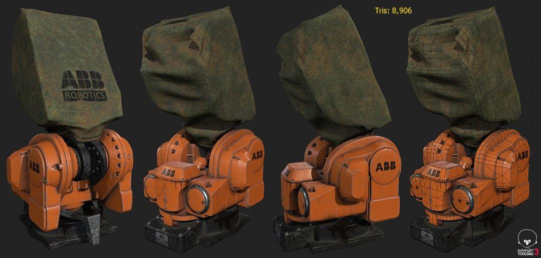 Hard surface/Weapon/vehicle artist Trace Arttest IRB5400 Texture jpg