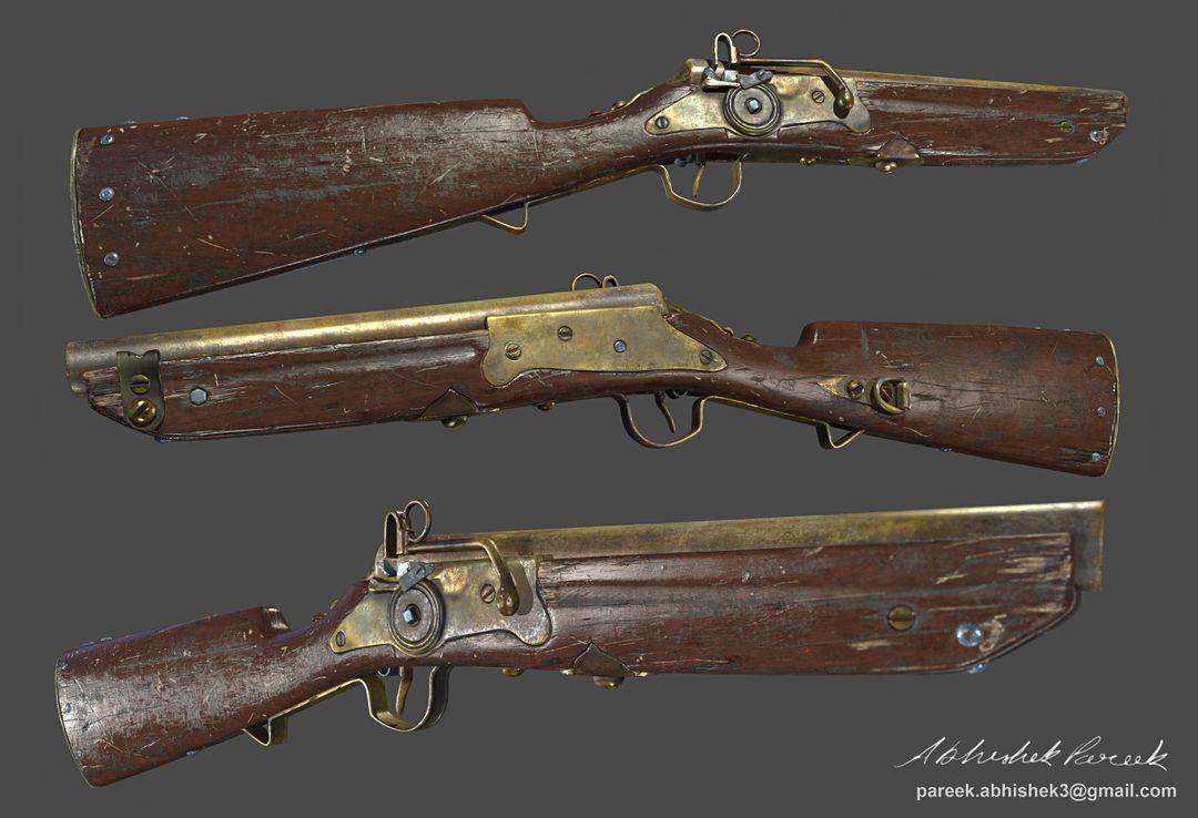 Hard surface/Weapon/vehicle artist old gun jpg