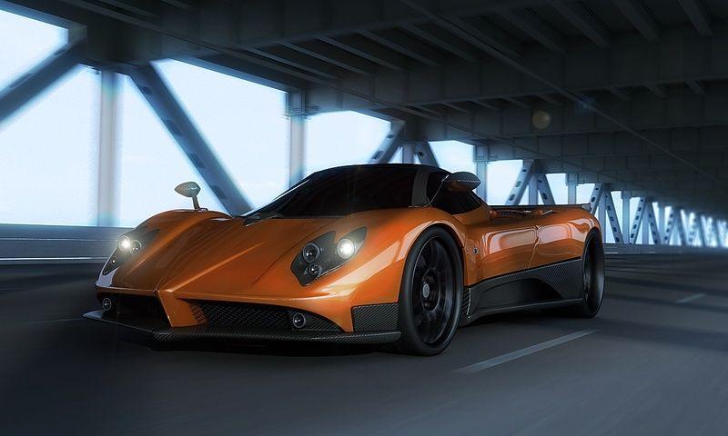Automotive modeling, 3d Pagani Zonda jpg