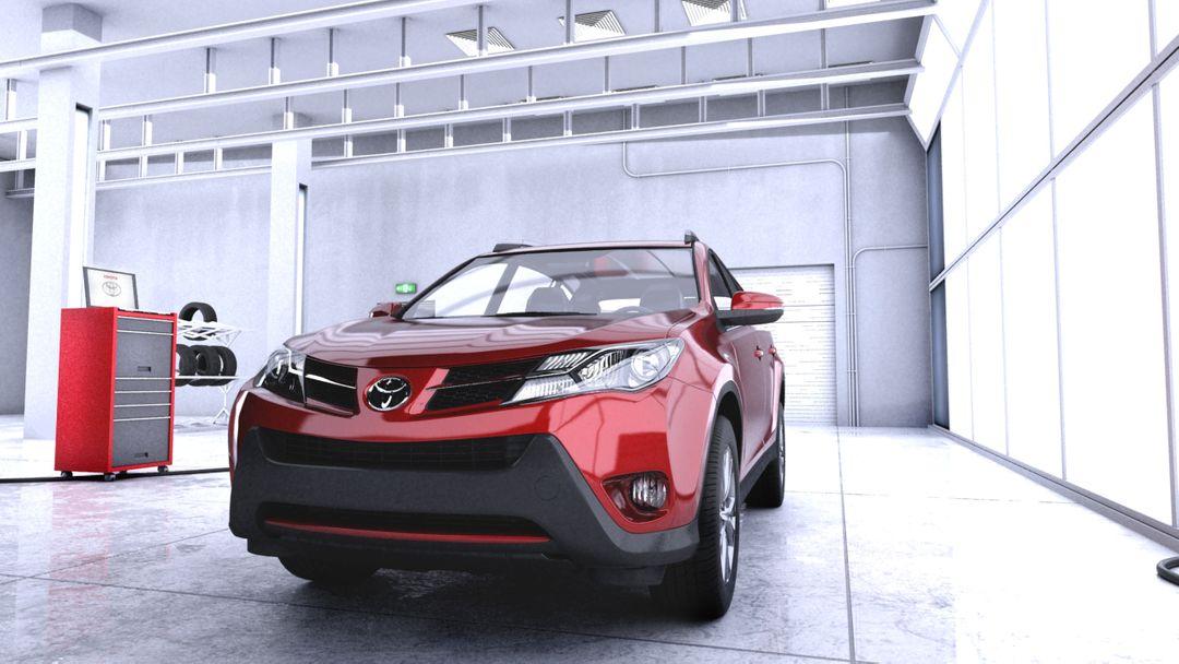 Automotive modeling, 3d toyota jpg