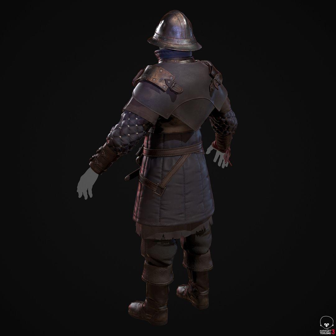 City Guard Armor   Fanart denis sidelnikov bc feb27 knight suit back colour jpg