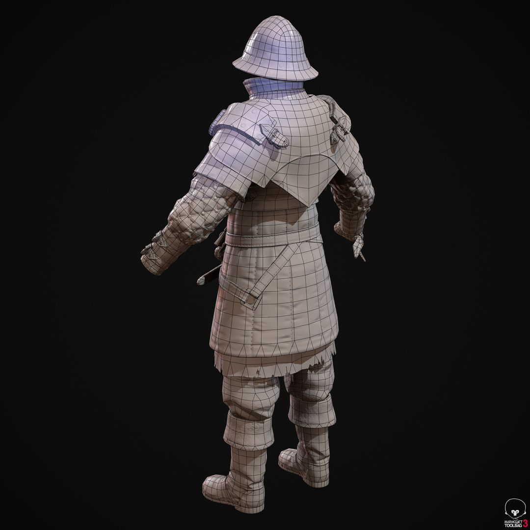 City Guard Armor   Fanart denis sidelnikov bc feb27 knight suit back wire jpg