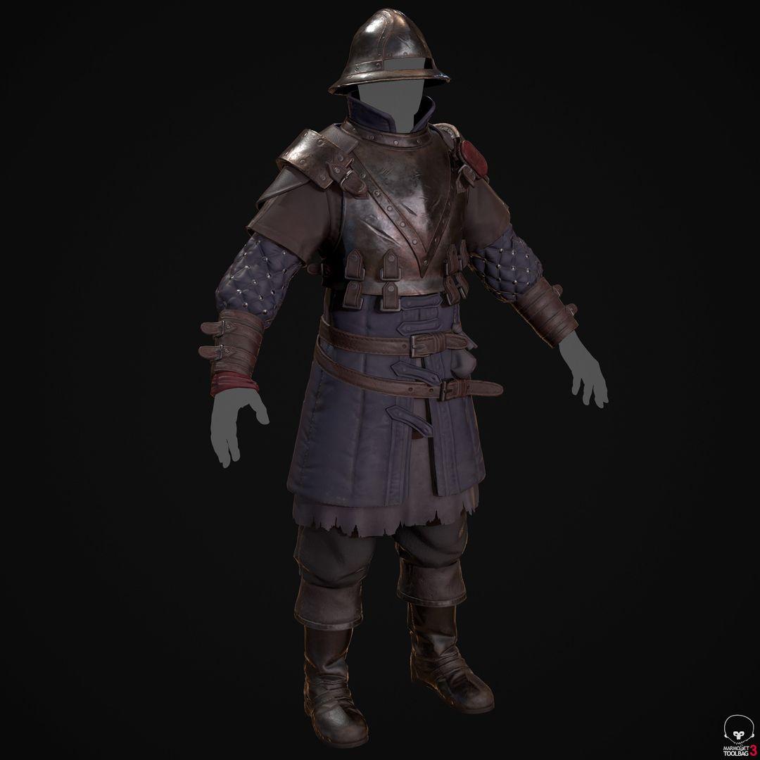 City Guard Armor   Fanart denis sidelnikov bc feb27 knight suit front collour jpg