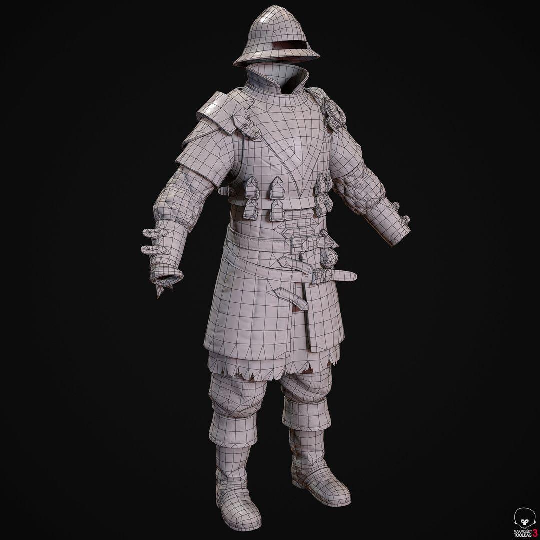 City Guard Armor   Fanart denis sidelnikov bc feb27 knight suit front wire jpg