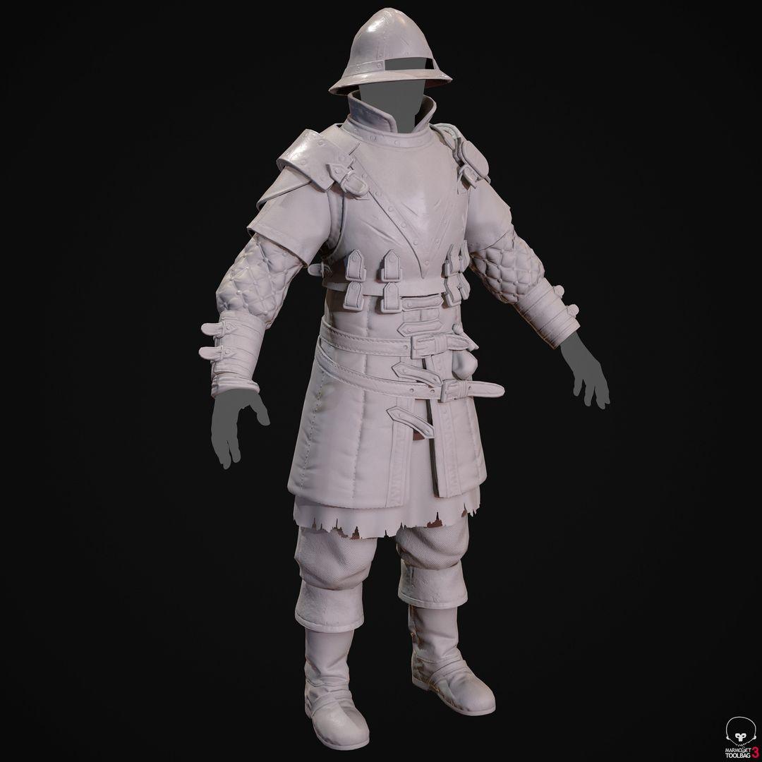 City Guard Armor   Fanart denis sidelnikov bc feb27 knight suit grey jpg