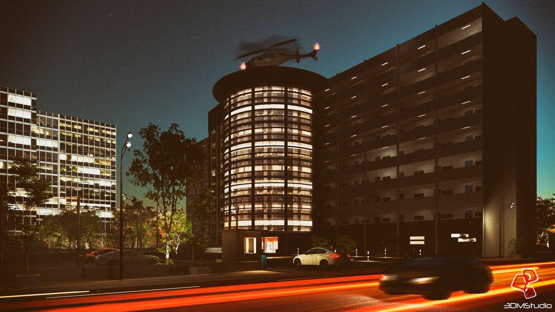 Architectural visualization Hospital jpg
