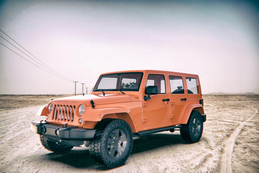 Various/3D modeling and rendering Jeep 222 jpg