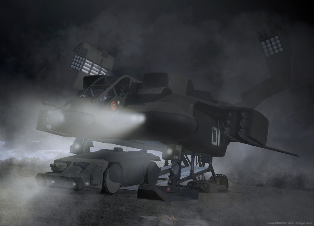 Vehicle 3D models Dropship jpg