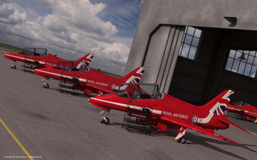 Vehicle 3D models Red Arrows jpg