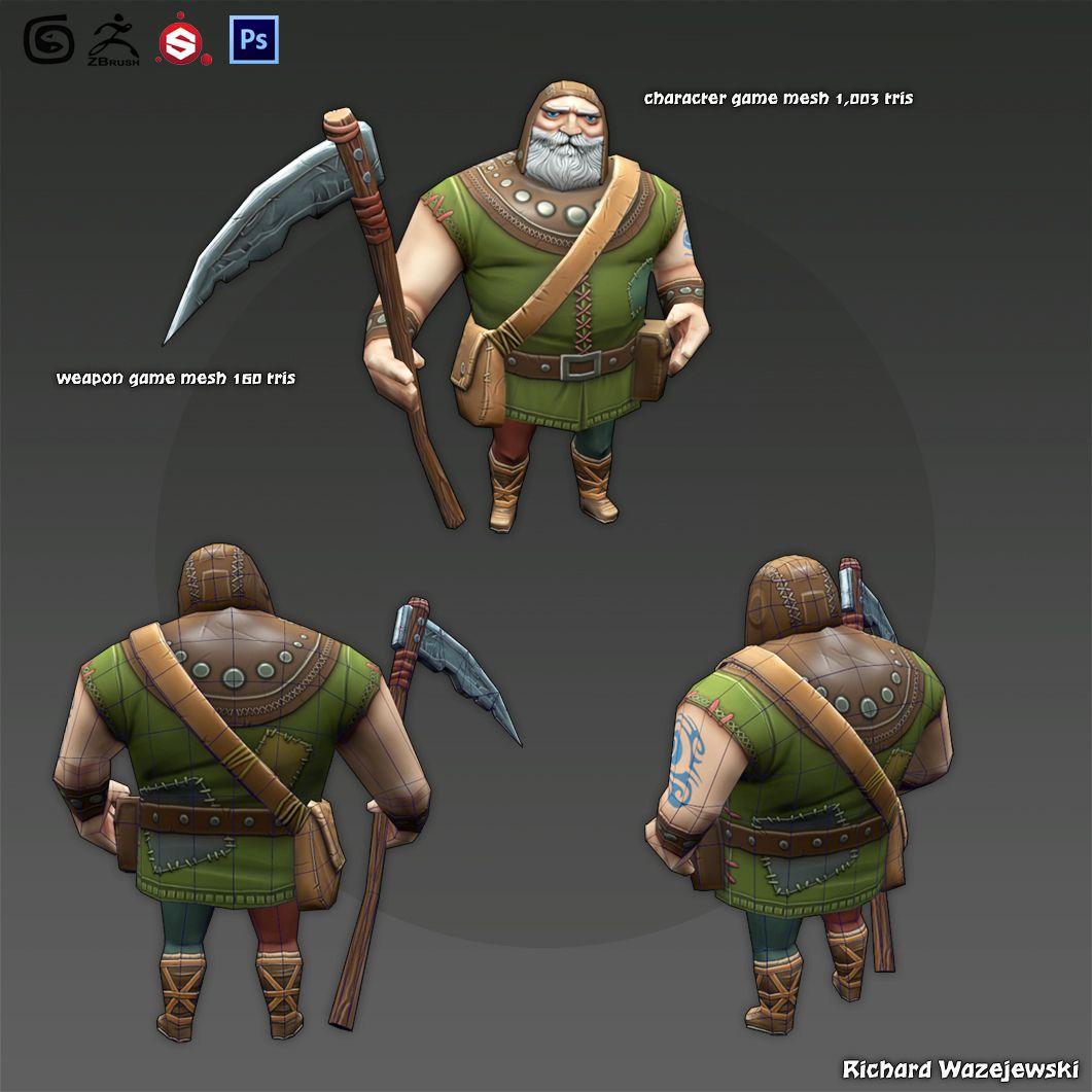 Game Character & Weapons render 05 jpg