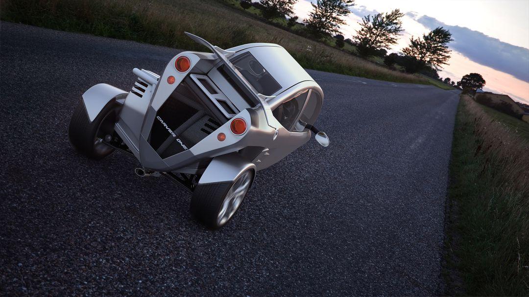 Automotive 3D Modeling Test 01 Exterior inclinado 01 jpg