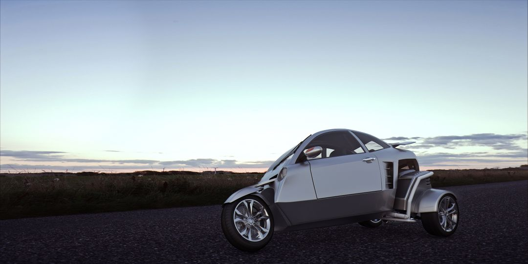 Automotive 3D Modeling Test 01 Exterior inclinado rear 01 low 1 jpg