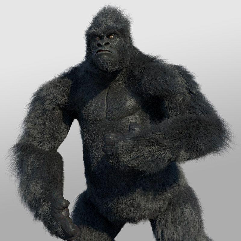 3D models gorilla jpg