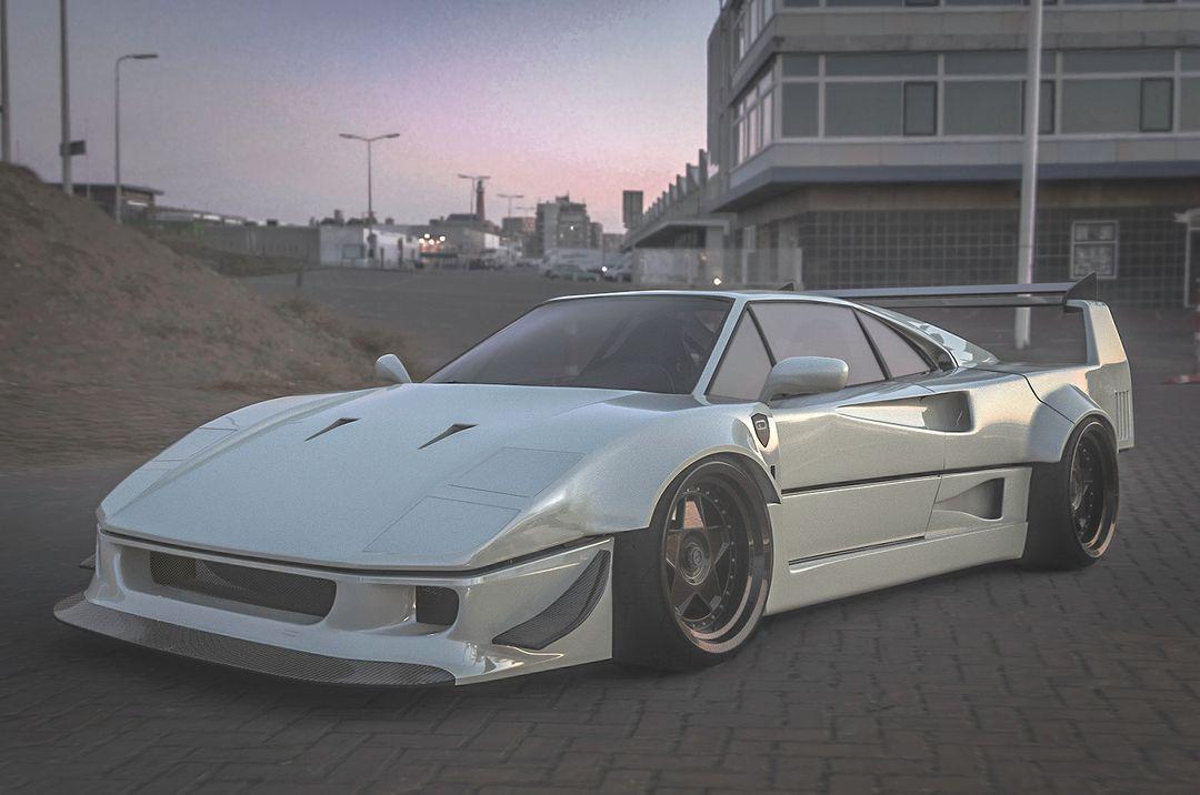 Ferrari F40 white final Instagram jpg