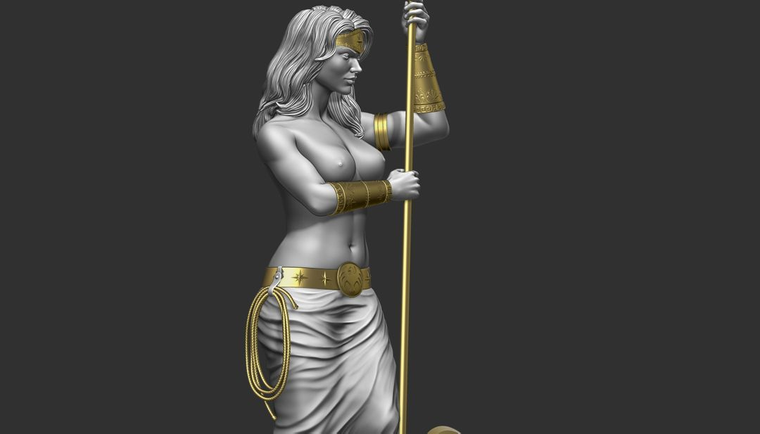 Sculpting for 3d Print WW wip09 jpg