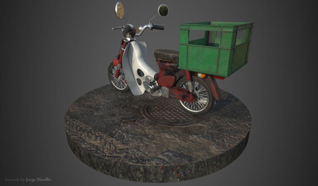 Vehicle 3D Modeling jorge morillo worn motorcycle 02 jpg