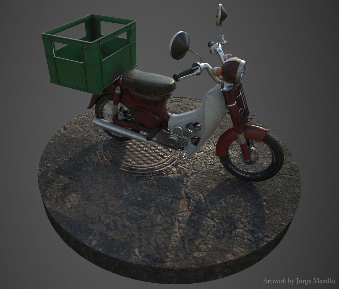 Vehicle 3D Modeling jorge morillo worn motorcycle 04 jpg