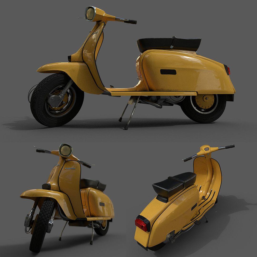 Lambretta - 3D modelling and texturing Lambretta 01 jpg