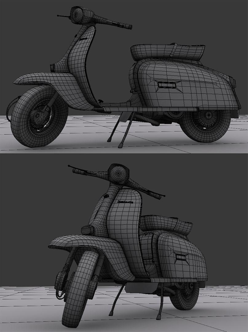 Lambretta - 3D modelling and texturing Lambretta 02 jpg