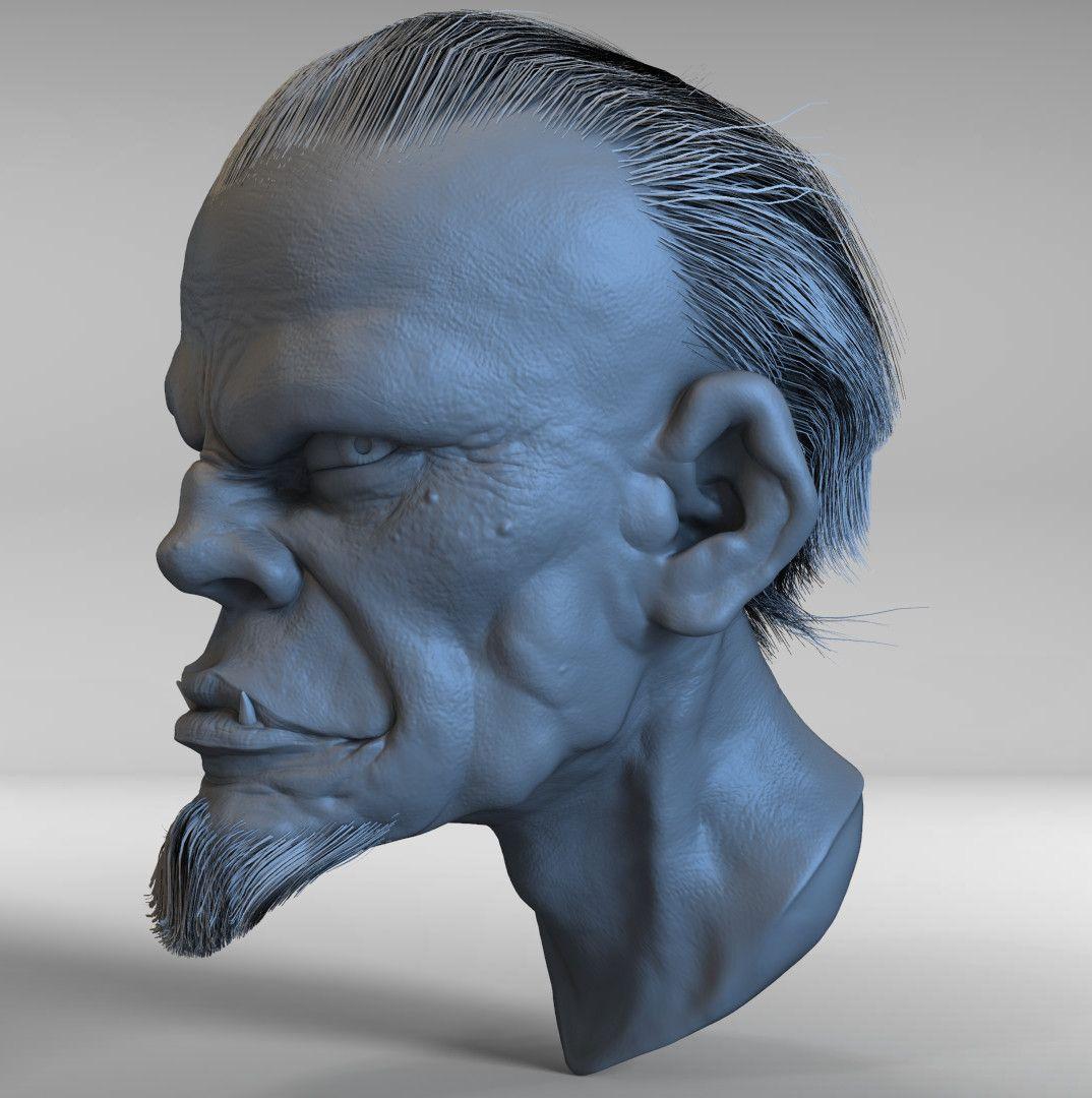 Head Sculpt edwin gautreau practice 16 jpg