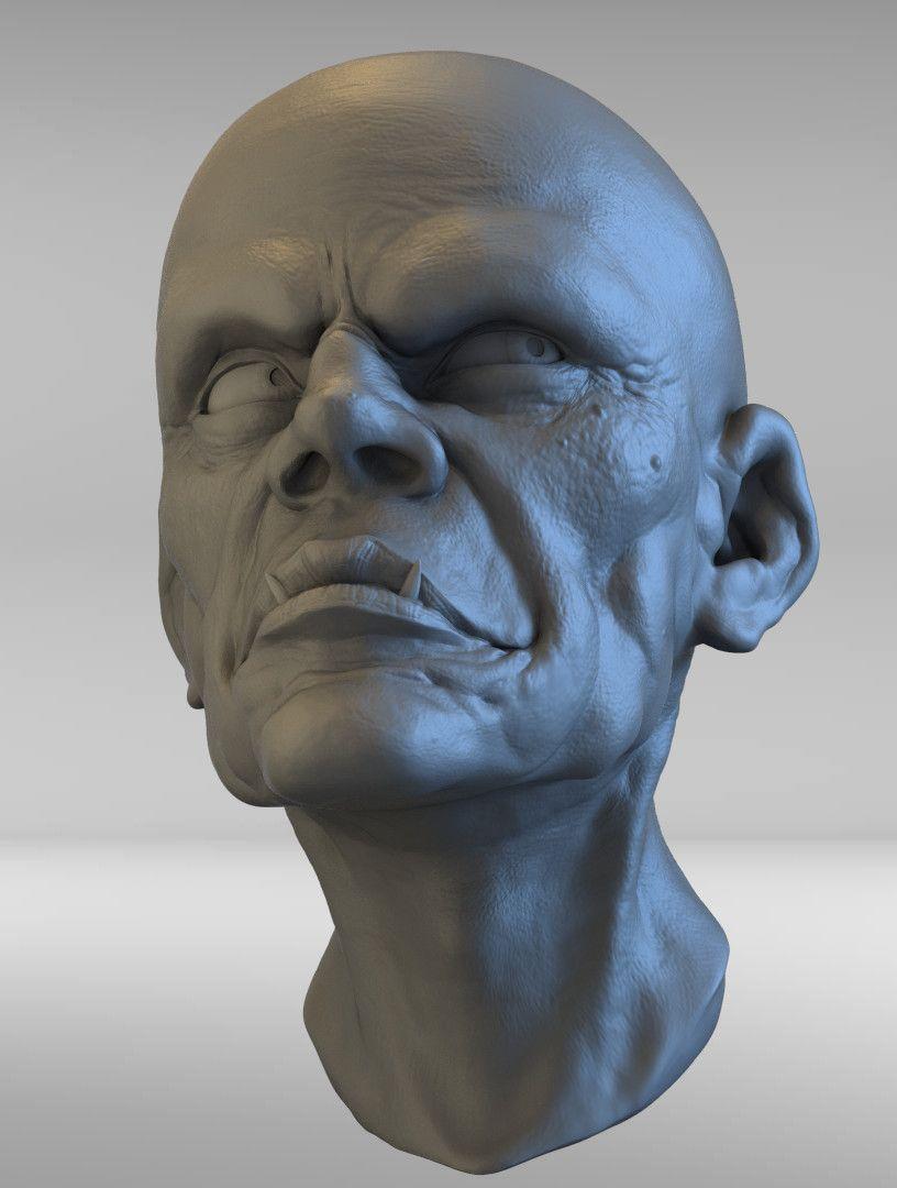 Head Sculpt edwin gautreau practice 18 jpg