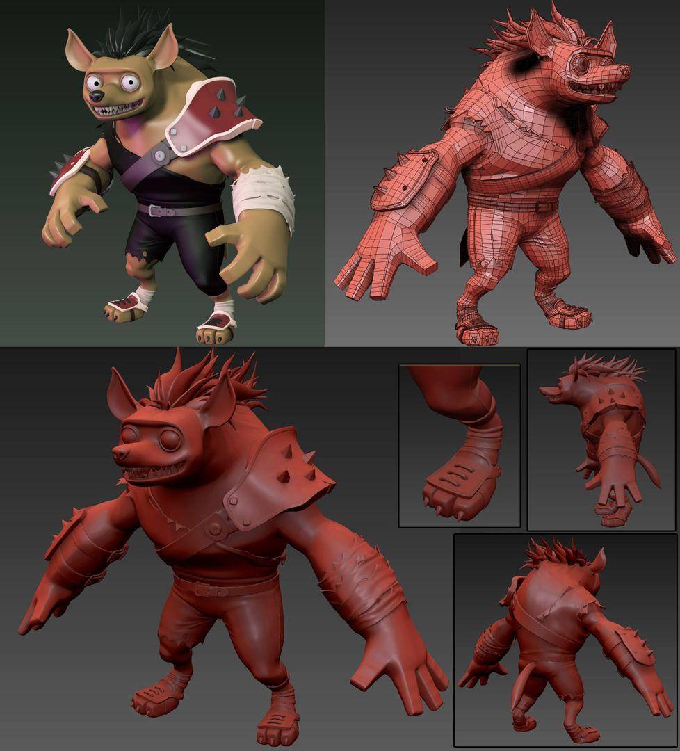3d Characters edwin gautreau hiena concept s jpg