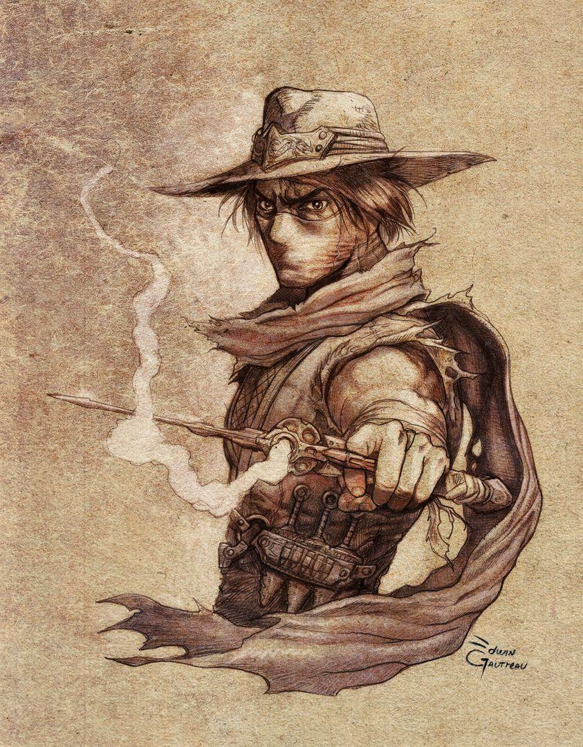 Illustrations edwin gautreau ninjacowboy final w2 jpg