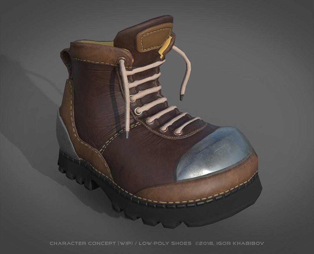 Low-poly shoes for stylized character concept 004a jpg