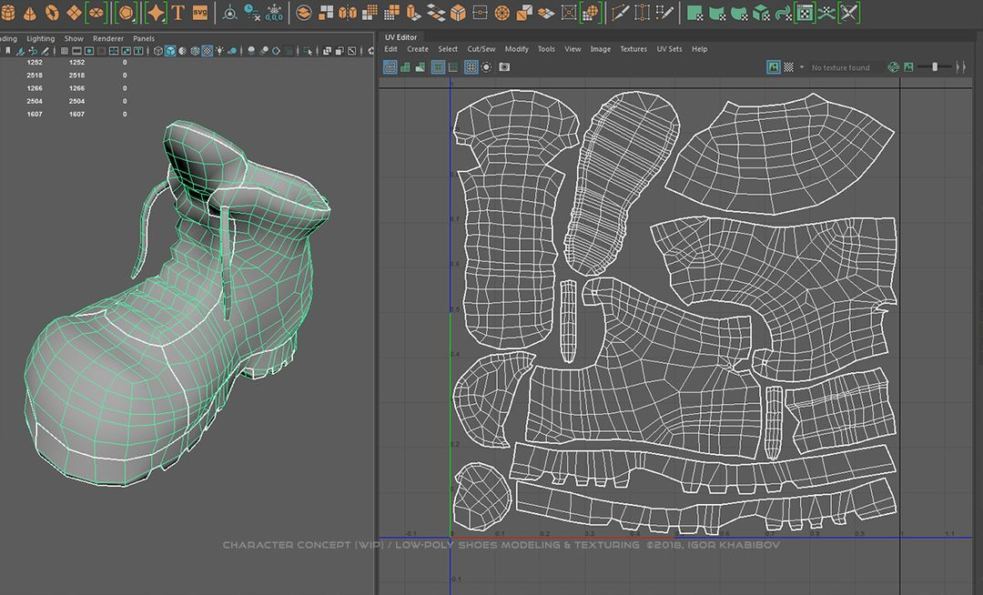 Low-poly shoes for stylized character concept 007 1 jpg