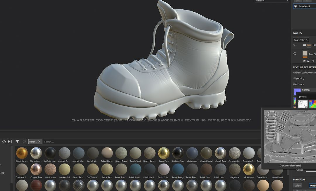 Low-poly shoes for stylized character concept 008 1 jpg