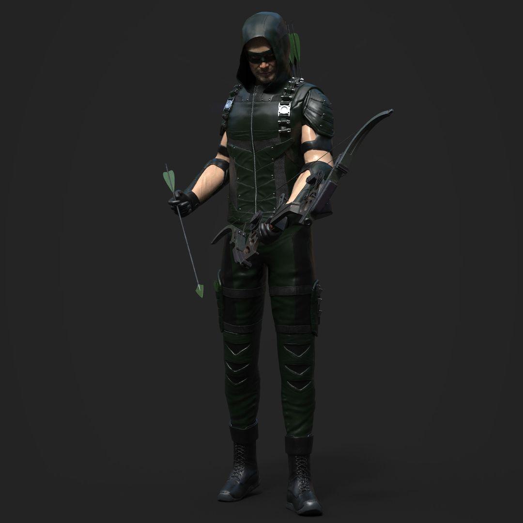3D art works Green Arrow 01 jpg