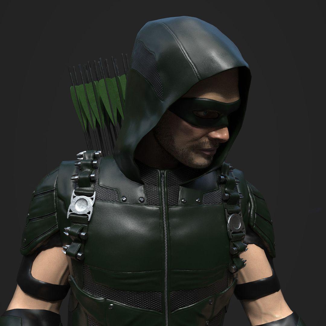 3D art works Green Arrow 03 jpg