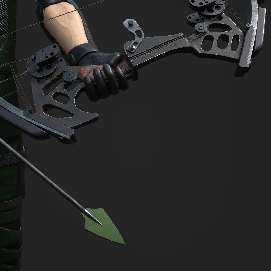 3D art works Green Arrow 05 jpg