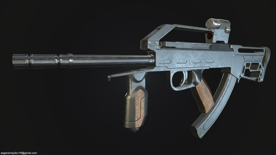 3D art works Machine gun 01 jpg