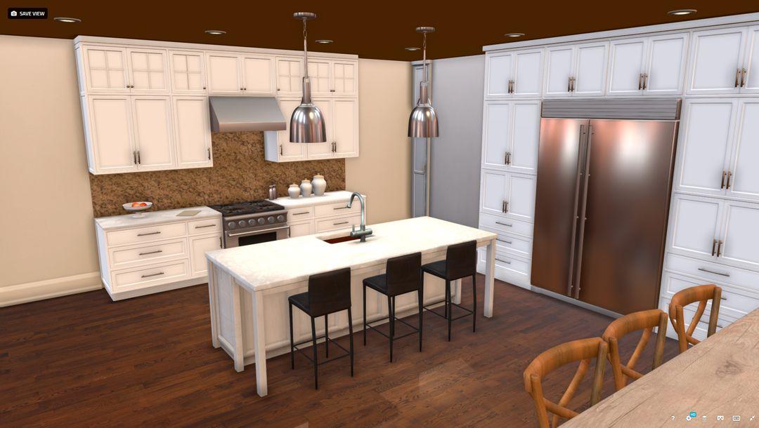 3d modelling Kitchen jpg