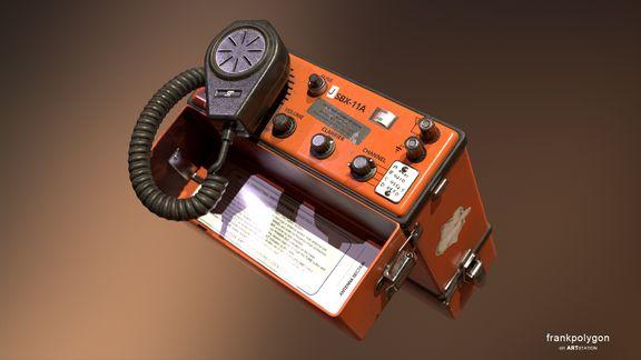 SBX Radio (low poly hero prop)