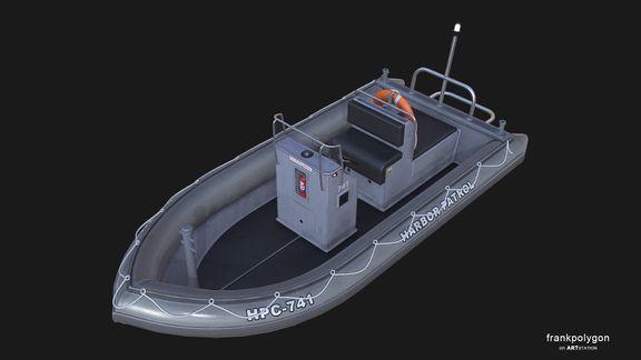 Patrol boat (real-time simulation vehicle)