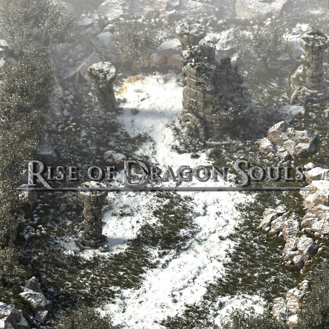 Rise of Dragon Souls Snowy Scene Fog LOGO jpg