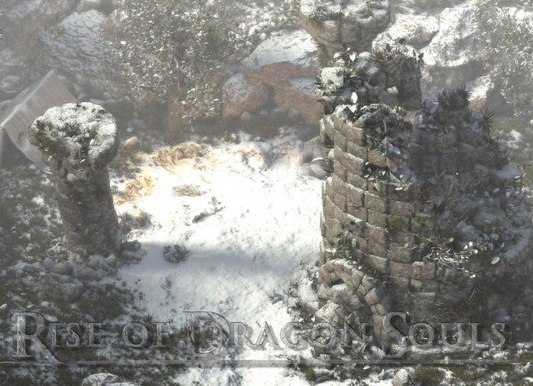Rise of Dragon Souls Snowy Scene Fog LOGO Video jpg