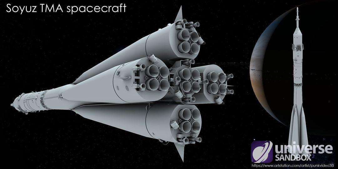 Soyuz TMA spacecraft (Lowpoly) sergey tabakov 03 2 jpg