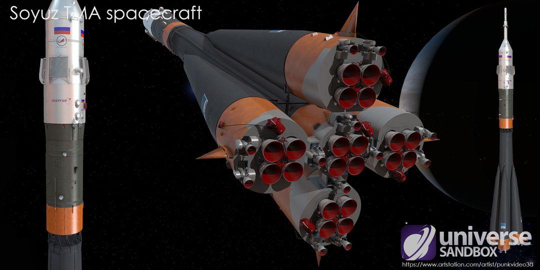 Soyuz TMA spacecraft (Lowpoly) sergey tabakov 04 3 jpg